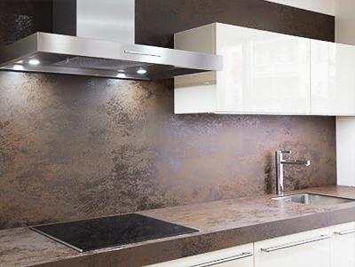Кухонный фартук из керамогранита без швов